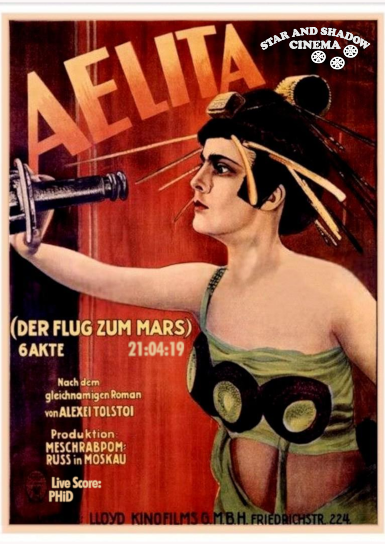 timeless design 436bb 69e1b Star and Shadow: Aelita, Queen Of Mars (1922)