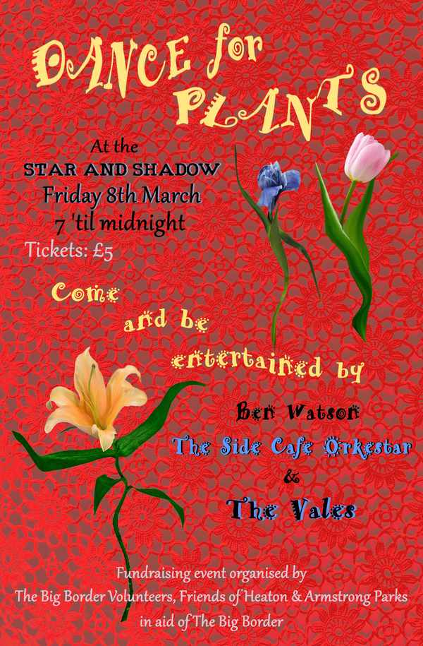 Picture for event Heaton Park Fund Raiser -Spring is just around the corner - so dust off your dancing shoes and shake off those winter blues  with Heaton based  Singer/songwriter Ben Watson;  Gypsy Jazz-band 'Side Cafe Orkestar'  Rock&Rhythm Band 'The Vales'.