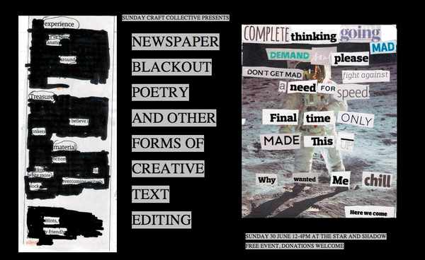 Picture for event Craft Cafe - Newspaper Black Out Poetry