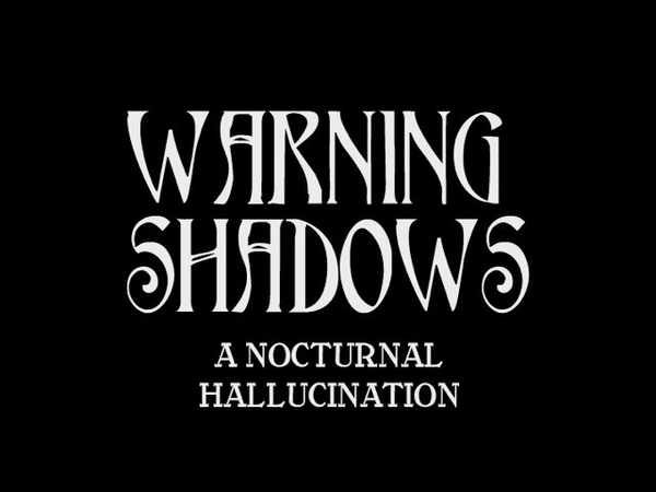 Picture for event Warning Shadows (1923)