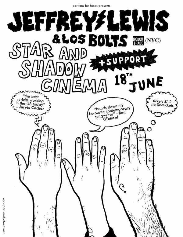 Picture for event Jeffrey Lewis and Los Bolts + Support
